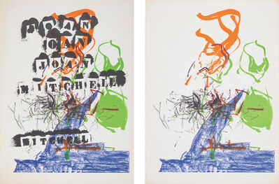 Joan Mitchell, 'Untitled (for Galerie Jean Fournier et Cie.): two plates', 1969