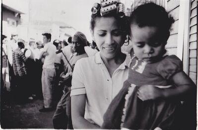Agnès Varda, 'Havana -  Woman with hair curlers carrying a little girl, Havana (Cuba series)', 1962-1963