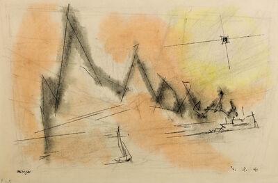 Lyonel Feininger, 'Smoke Script', 1946