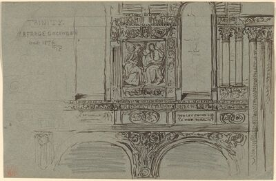 John La Farge, 'Trinity Church, Boston (nave) - Mural Study', 1876