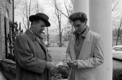 Henri Dauman, 'Elvis Presley with his manager at Colonel Parker, Graceland Memphis, TN', 1960