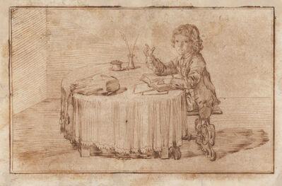Pier Leone Ghezzi, 'Portrait of Serafino Falzacappa, Seated at a Table', 1714
