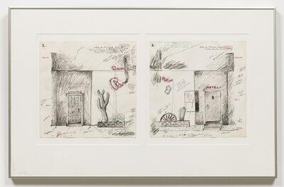 Terry Allen, 'Study for Facade (The Paradise)', 1975