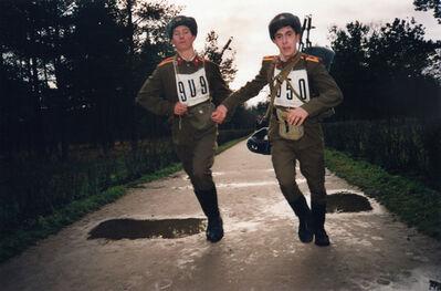 Bertien van Manen, 'St. Petersburg (Two Soldiers Running)', 1991