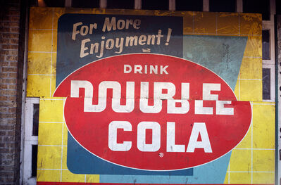 William Christenberry, 'Double Cola Sign, Beale Street, Memphis, 1966', 1966