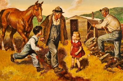 Amos Sewell, 'Man Leading Horse', 1945