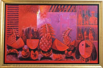 Vladimir Cora, 'Bodegon in Red', 2000