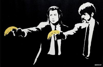 Banksy, 'Pulp Fiction - Signed ', 2004