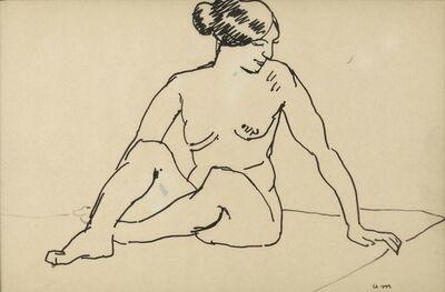 Albert Marquet, 'Femme assise sur un tapis', 1910-1915