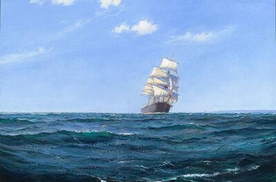Montague Dawson, 'A Ship in Open Water'