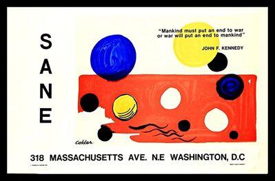 Alexander Calder, 'SANE Disarmament Print', 1975
