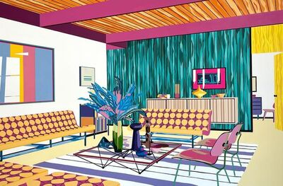 Michael Callas, 'Living Room with Pink Beams', 2021