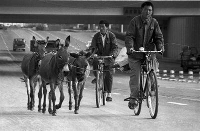 Guo Jianshe 郭建设, 'Under the Jianguomen overpass', 1984