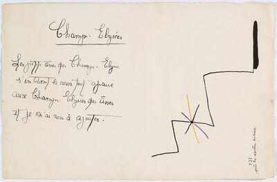 """Joan Miró, '""""Il était une petite pie"""" (There Was a Little Magpie) – Sheet VII', 1928"""