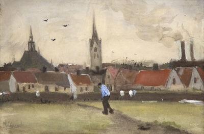 Vincent van Gogh, 'Uitzicht over Den Haag met de Nieuwe Kerk', 1882