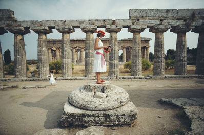 Slim Aarons, 'Laura Hawk In Paestum', 1984