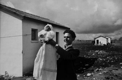 "David ""CHIM"" Seymour, 'First child born, Alma, Israel', 1951"
