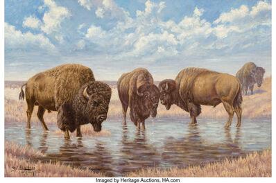 Emil Lenders, 'Buffalo on the Plains'