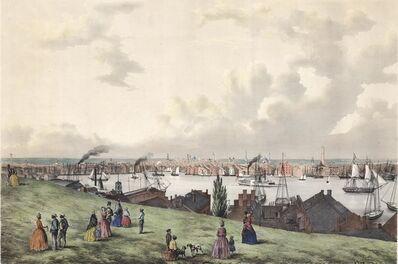 Fitz Henry Lane, 'View of Baltimore, from Federal Hill.', 1850