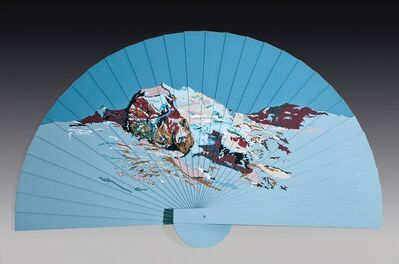 Yehudit Sasportas, 'Fan, Earth up, Sky Down, 2004, Acrylic on shaped MDF, 160X275 cm. Signed.', 2004