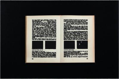 Emilio Isgrò, 'Cancellatura a Elisa', 1984