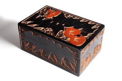 Yosai Yamashita, 'Japanese Layered Lacquer morning glory design Box'