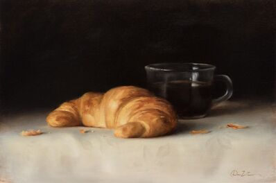 Dana Zaltzman, 'Croissant and Coffee', 2019