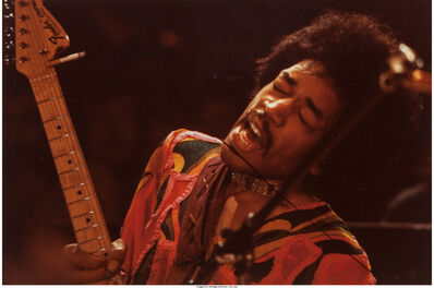 Jim Marshall, 'Jimi Hendrix singing', 1967