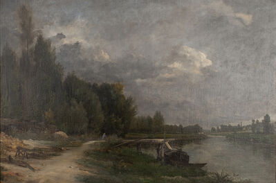 Antoine Chintreuil, 'Path Along the River', ca. 1860s
