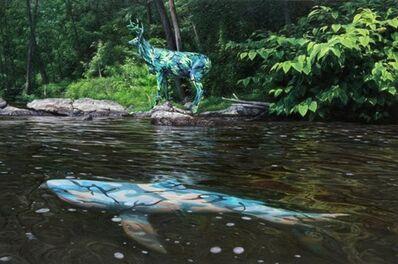 Ron English, 'Camo Deer and Shark', 2011