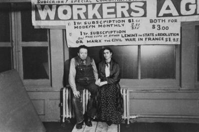 Lucienne Bloch, 'Midnight at New Workers School (Diego Rivera & Frida Kahlo)', 1933