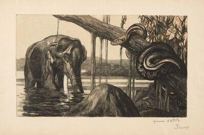 Paul Jouve, 'Eléphant et python', 1948