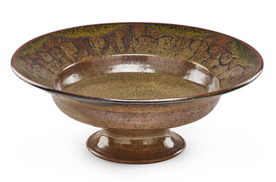 Robert Arneson, 'Large early footed bowl with abstract decoration', 1950s