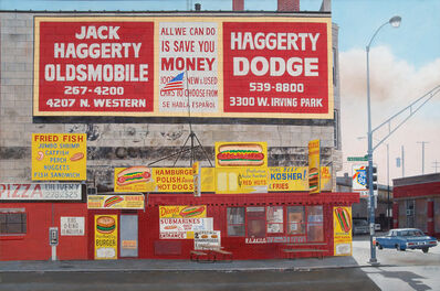 John Baeder, 'Diane's Palestine Pure Beef Hot Dogs (Chicago, IL)', 2010