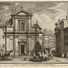 Giuseppe Vasi, 'Chiesa e Monastero delle Vergini, delle Suori Agostiniane', 1747-1801