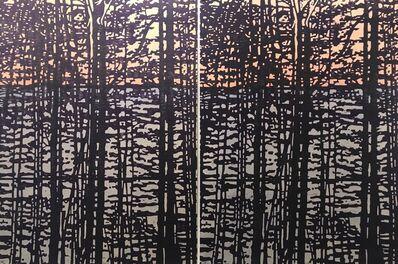 Eve Stockton, 'Woodland Landscape X - var. 4 & var. 5 (diptych)', 2020