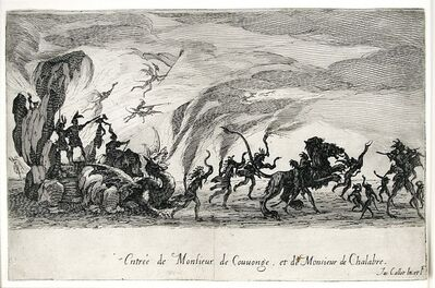 Jacques Callot, 'Le Combat a La Barriere (The Combat at the Barrier)', 1627