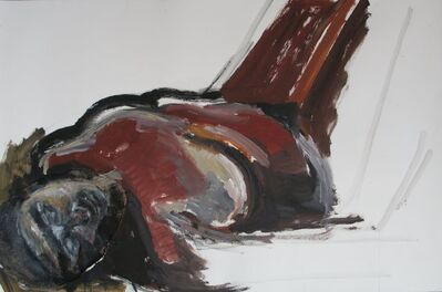 Ofer Lellouche, 'Woman Laying on Back', ca. 2009