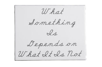 Nancy Atakan, 'What Something Is Depends on What It is Not No.2', 2015