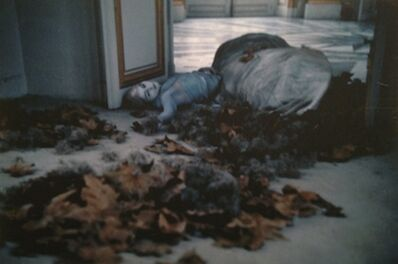 Deborah Turbeville, 'Autumn leaves inside the Pavillon Francais: Aurelia Weingarten, Unseen Versailles', 1980