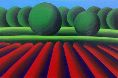 Oleg Khvostov, 'Landscape with Red Field', 2016