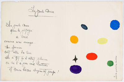 "Joan Miró, '""Il était une petite pie"" (There Was a Little Magpie)', 1928"
