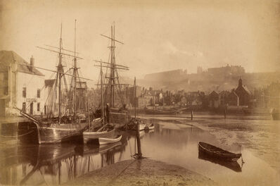 Frank Meadow Sutcliffe, 'Group of two mounted albumen prints of Whitby Harbor', 1880s