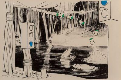Tilo Baumgärtel, 'Kleiner Kreislauf (Bugs in Water)', 2003