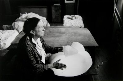 Inge Morath, 'Louise Bourgeois in her studio, Brooklyn', 1991