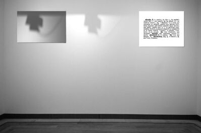 Joseph Kosuth, 'One and Three Shadows (Ety./Hist.]', 1965