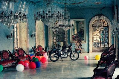 Tim Walker, 'Motorbike in Ballroom, Goa, India', 1999