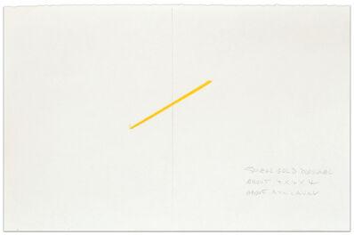 Fred Sandback, 'Small Gold Diagonal', 1974