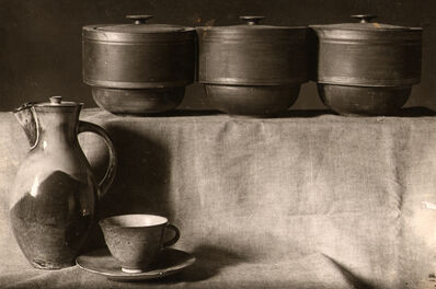 Lucia Moholy, 'Cocoa Pot and Cup and Storage Containers ', 1923