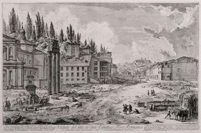 Giovanni Battista Piranesi, 'Veduta del Sito, ov'era l'antico Foro Romano', 1756